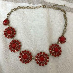 Orange/red statement necklace